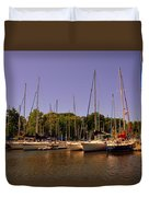 Marina At Lake Murray S C Duvet Cover