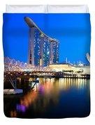 Marina Bay Sand Duvet Cover by Yew Kwang