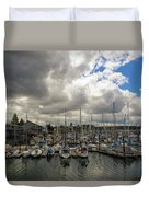 Marina In Olympia Washington Waterfront Duvet Cover