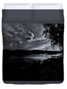 Marina Sunset Black And White Duvet Cover