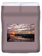 Marina Sunset Duvet Cover