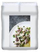 Marinated Tuna Vegetable And Herb Salad Duvet Cover