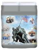 Marine Corps Art Academy Commemoration Oil Painting By Todd Krasovetz Duvet Cover