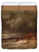 Marine Landscape The Cape And Dunes Of Saint Quentin 1870 Duvet Cover