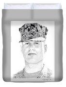 Marine Sgt Joseph Fankhauser  Duvet Cover