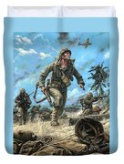 Marines In The Pacific Duvet Cover