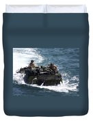Marines Operate An Amphibious Assault Duvet Cover