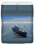Maritime Forces From 17 Nations Duvet Cover