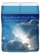 Mark 13 26 Duvet Cover