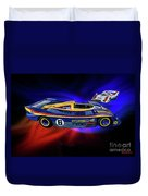 Mark Donohue And George Follmer Porsche Duvet Cover