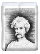 Mark Twain In His Own Words Duvet Cover