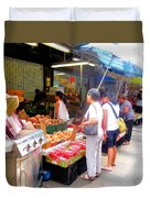 Market At Bensonhurst Brooklyn Ny 1 Duvet Cover
