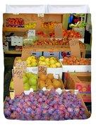 Market At Bensonhurst Brooklyn Ny 10 Duvet Cover