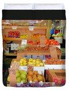 Market At Bensonhurst Brooklyn Ny 11 Duvet Cover