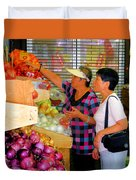 Market At Bensonhurst Brooklyn Ny 2 Duvet Cover