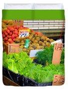 Market At Bensonhurst Brooklyn Ny 5 Duvet Cover