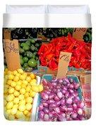 Market At Bensonhurst Brooklyn Ny 6 Duvet Cover