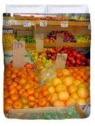 Market At Bensonhurst Brooklyn Ny 9 Duvet Cover