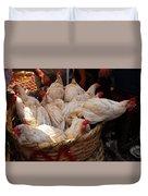 Market Chickens  Grenada Nicaragua Duvet Cover