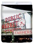 Market Closeup Duvet Cover