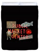 Market Collage Duvet Cover
