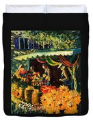 Market In Provence Duvet Cover