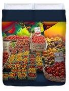Market Still Life Duvet Cover