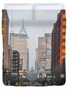 Market Street Philadelphia - In The Morning Duvet Cover