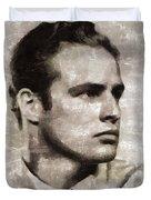 Marlon Brando, Vintage Actor Duvet Cover