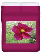 Maroon And Yellow Cosmos Duvet Cover