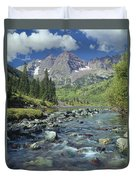 210404-maroon Bells And Creek  Duvet Cover