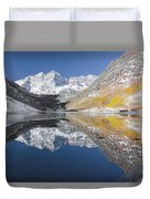 Maroon Bells Mirror Duvet Cover by Jemmy Archer