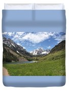 Maroon Bells Trail Panorama Duvet Cover