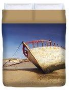 Marooned Boat Duvet Cover