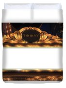 Marquee Lights Blank Sign Duvet Cover