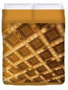 Marquee Lights On Theater Ceiling Duvet Cover