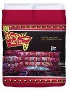Marquee Motel 1960's Wildwood, Nj, Copyright Aladdin Color Inc. Duvet Cover
