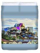marques de riscal Hotel at sunset - frank gehry Duvet Cover