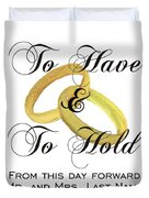 Marriage Vows Duvet Cover