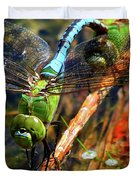 Married With Children Dragonflies Mating Duvet Cover