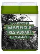 Marro's Restaurant Duvet Cover
