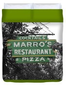 Marro's Restaurant Duvet Cover