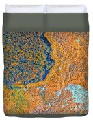 Mars Abstract Duvet Cover