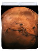 Mars The Red Planet Duvet Cover