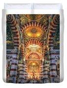 Marseille, France, Inside Of Notre-dame De La Garde Catholic Basilica Duvet Cover