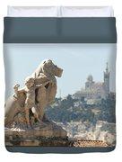 Marseille-saint-charles Statue, France Duvet Cover