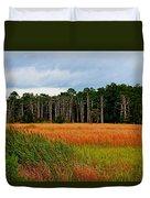 Marsh And Trees Duvet Cover