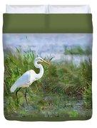Marsh Egret Duvet Cover