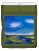 Marsh In The Low Country Duvet Cover