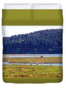 Marsh People Duvet Cover